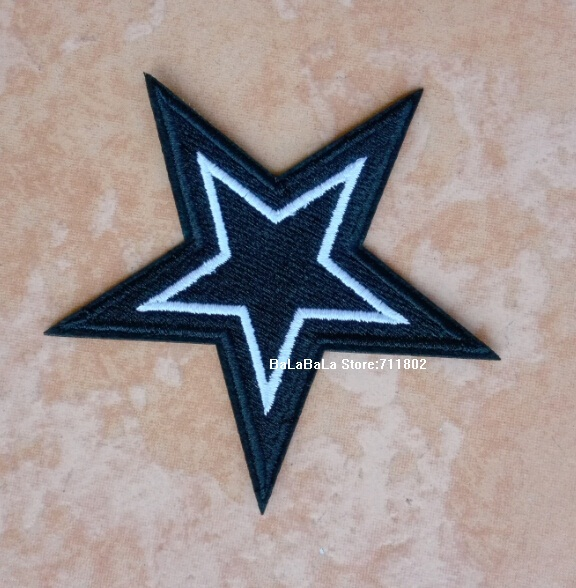 Wholesale 10Pcs Black Star Sequins Patches For Clothing Iron On Patch Embroidered  Appliques DIY Apparel Sewing