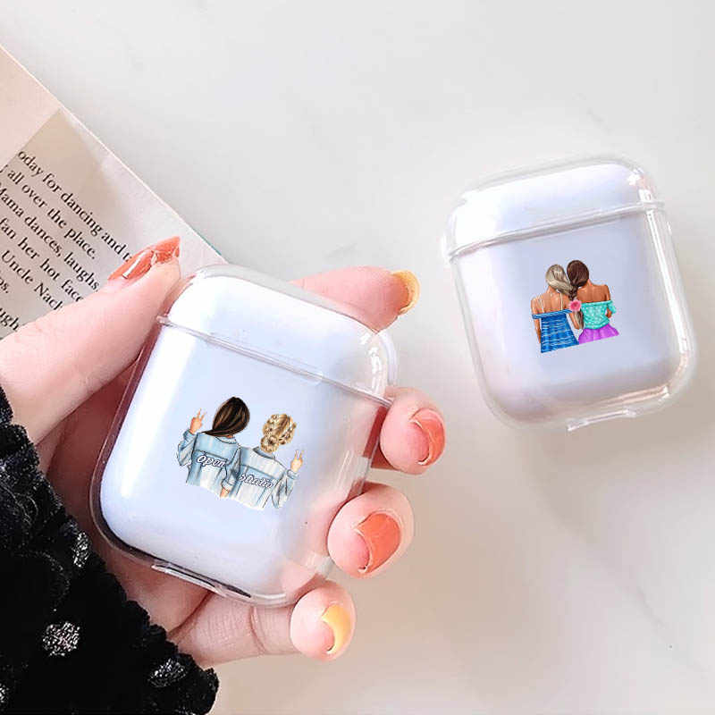 Transparent Soft Silicone Luxury Earphone Case For Airpods 1 2