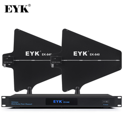 EYK EK-840 300m Directional Antenna Distributor Stable for 4 Sets Wireless Microphone System 500-950MHz Mic Splitter Collector