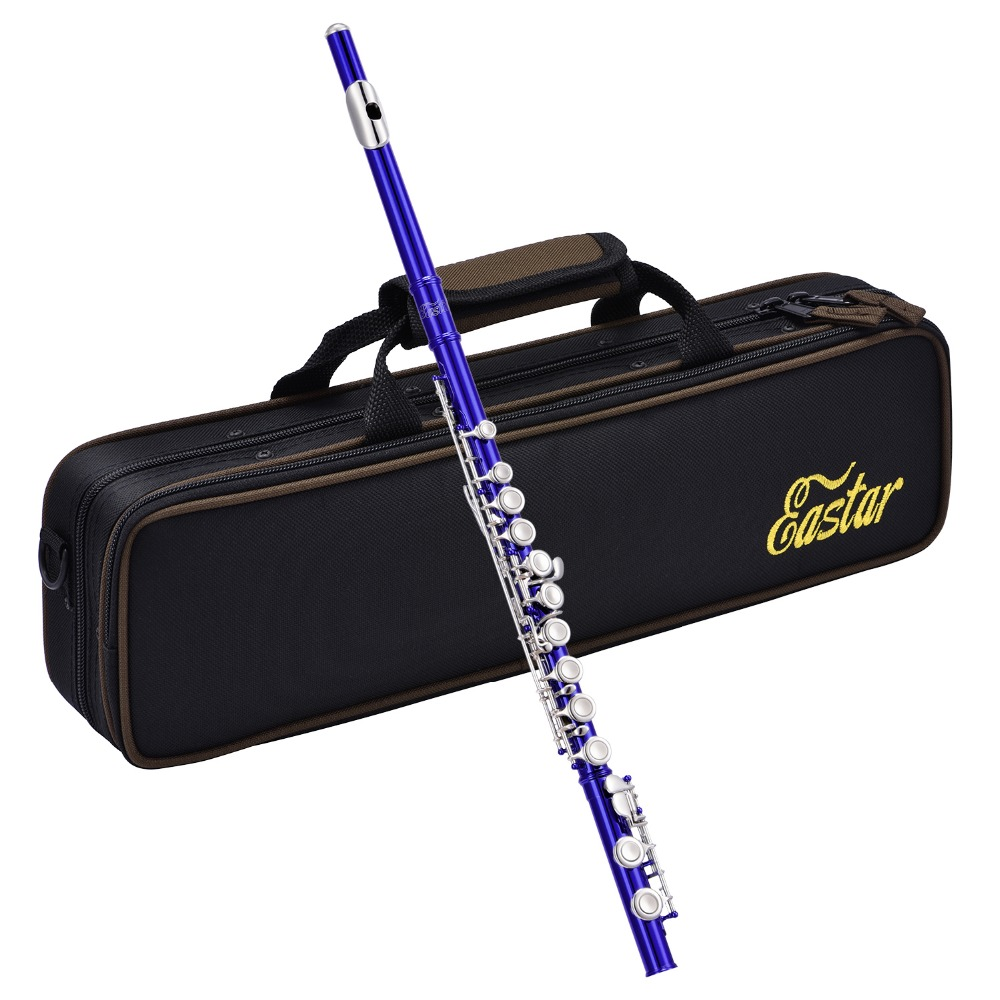 Eastar 16 Keys Close Hole C Flute Set Nickel Plated Cupronickel Woodwind Instrument With Flute Case