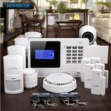 HOMSECUR 720P HD IP Camera Kit Wireless GSM SMS Autodial Burglar Alarm System