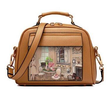 Летящие птицы! Женская кожаная сумка известных брендов, женские сумки-мессенджеры, женская сумка-мешок, высокое качество, женская сумка LS8235fb - Цвет: smallkhaki women bag