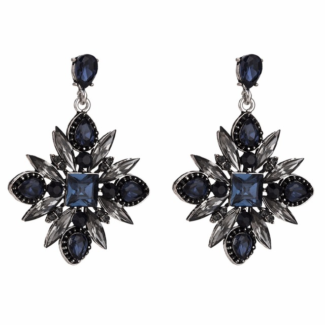 Qiaose New 3Colors Rhinestone Dangle Earrings for Women Fashion Jewelry  Boho Maxi Collection Earrings Accessories 2fda834f24a3