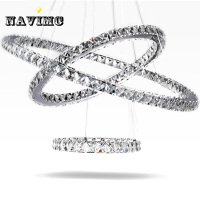 Modern Led Crystal Chandelier Living Room Lustre De Cristal Lighting Fixtures For Dining Room Hanging Lamp