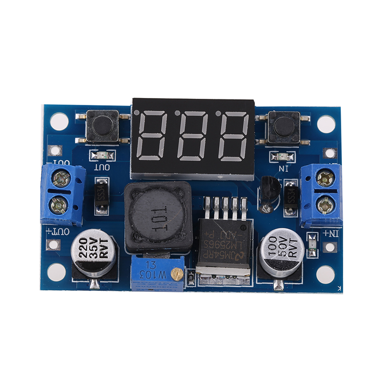 Power Module + LED Voltmeter 150 kHz DC to DC Buck Converter Adjustable Power current limit protection Supply Step Down Module diy kit dc dc adjustable step down regulated power supply module belt voltmeter ammeter dual display