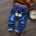 Бесплатная доставка 2016 весной новое поступление кот мода многосимвольный дети kid мальчик девочка джинсы брюки и свободного покроя брюки