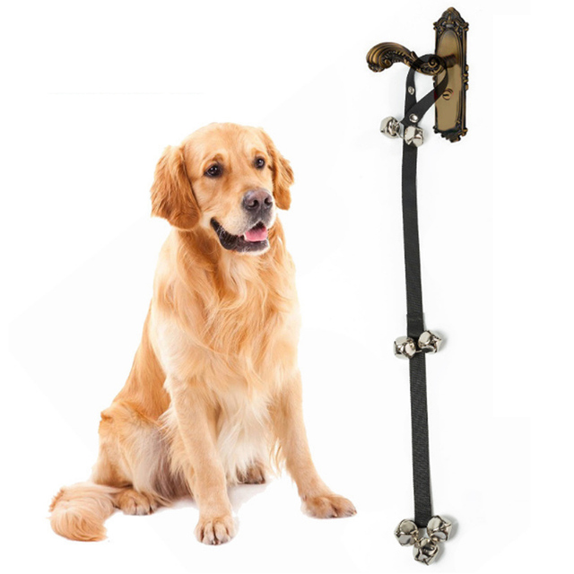 Adjustable Dog Doorbells for Dog Training and Housebreaking Pet Supply with 7 Bells