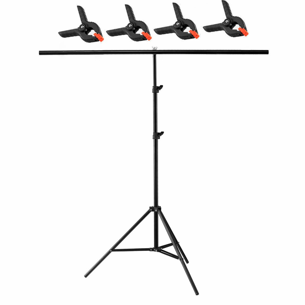 2m T Backdrop Stand Metal PVC Background Photography Support System 200 x 200cm