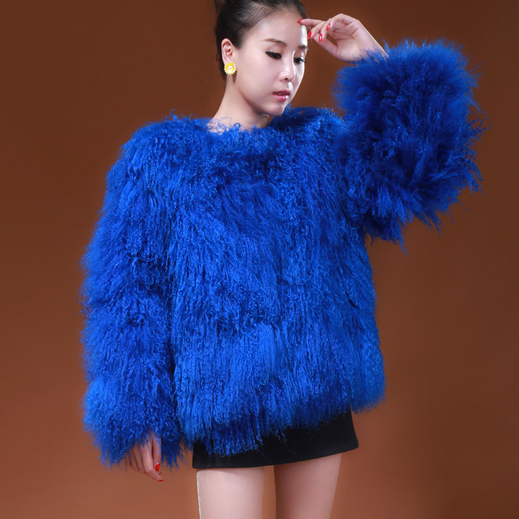 Popular Blue Fur Jacket-Buy Cheap Blue Fur Jacket lots from China ...
