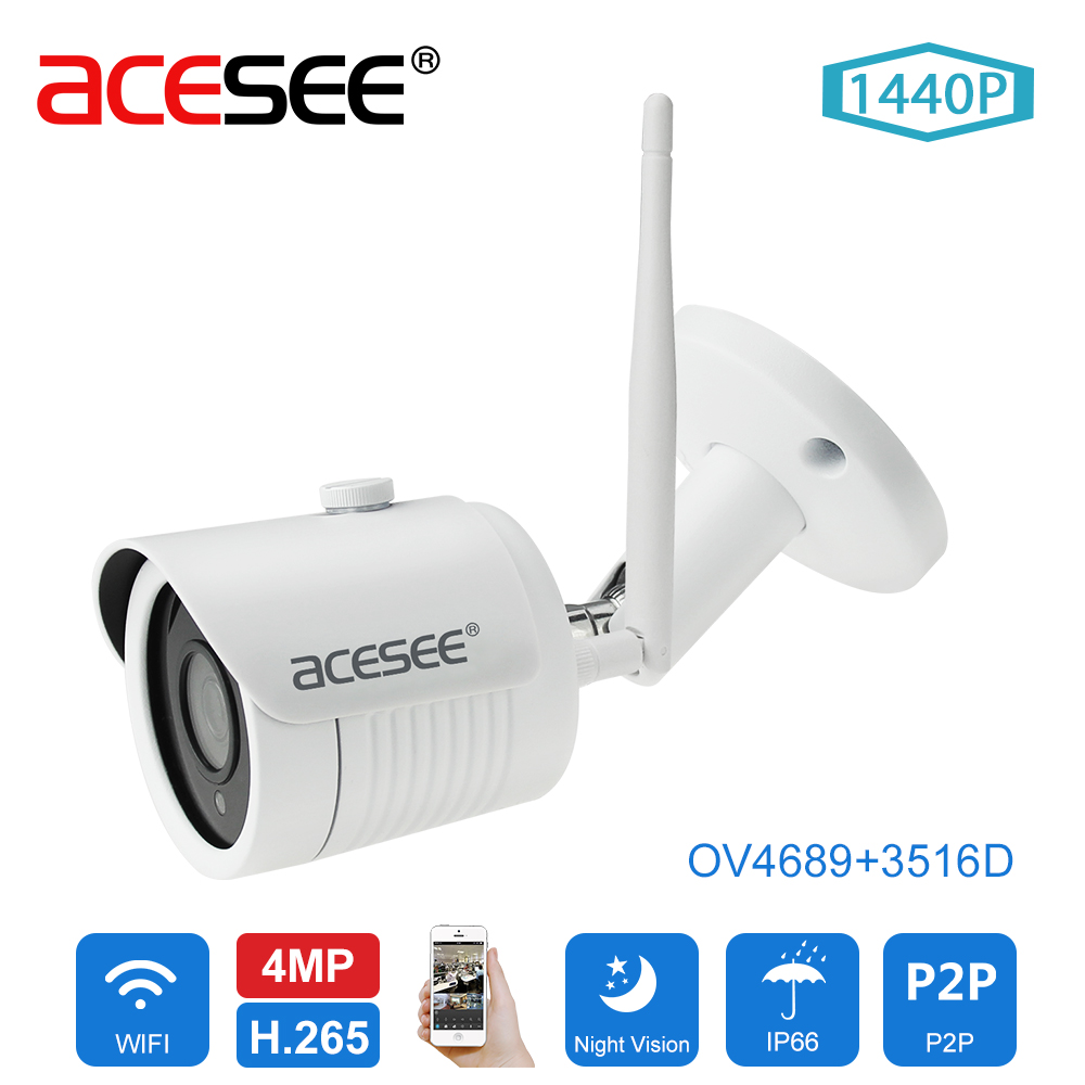 ACESEE OV4689 1440P Wireless CCTV Ip Camera 4.0MP Bullet Night Vision Surveillance Cameras System Onvif Wifi Home Video Security