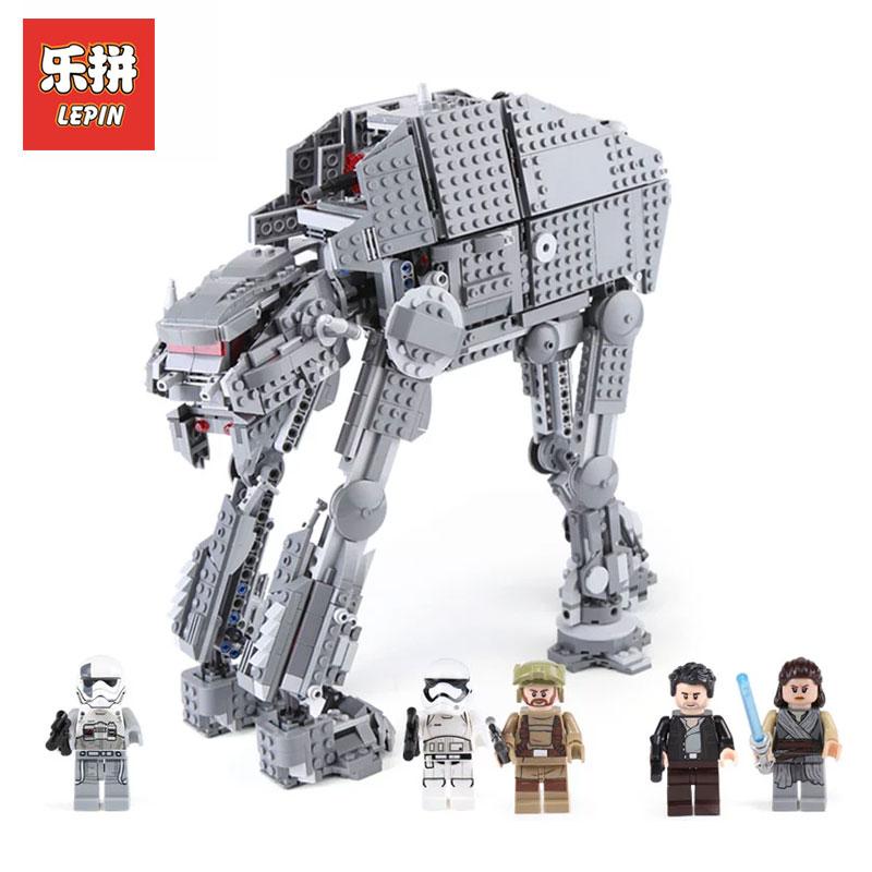 Фотография Lepin 05130 1541Pcs Genuine Star wars Series The First order heavy assault walker LegoINGlys 75189 Building Blocks Bricks Toys