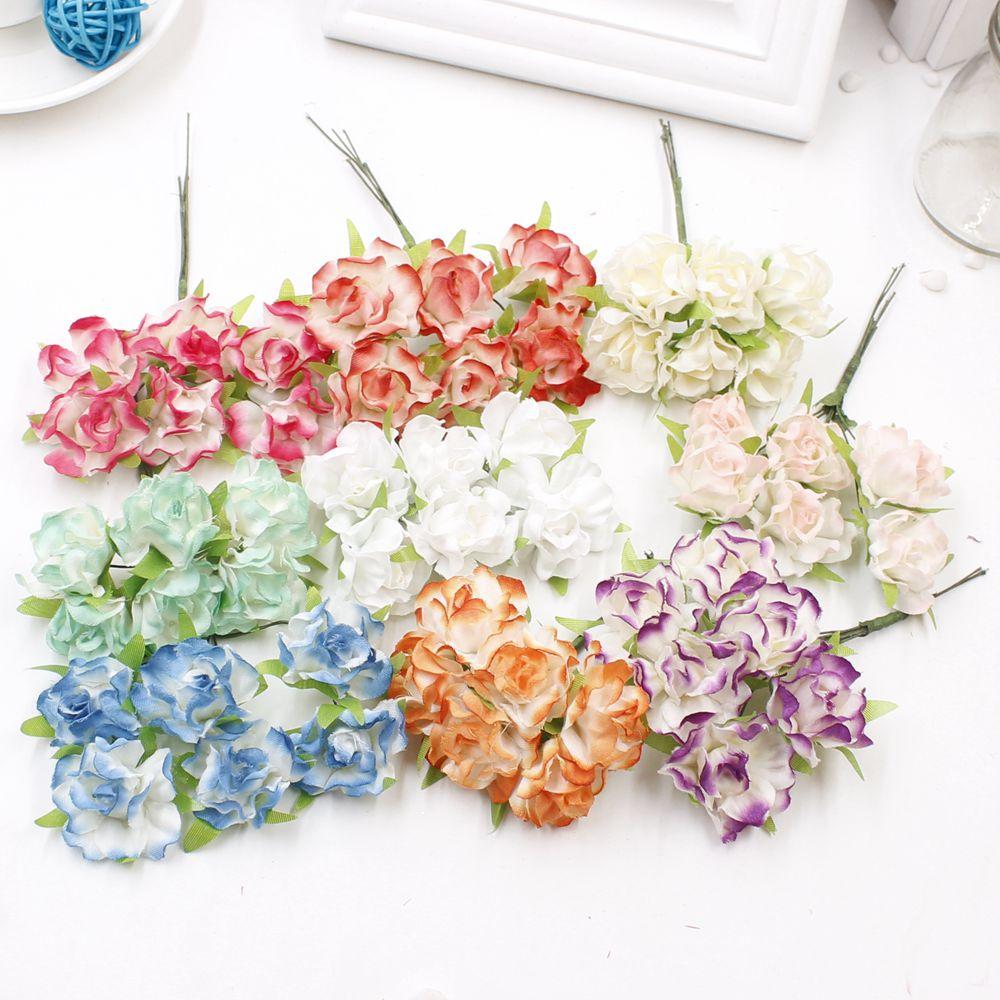venta caliente unids cm seda rosa artificial ramo de flores para la decoracin de