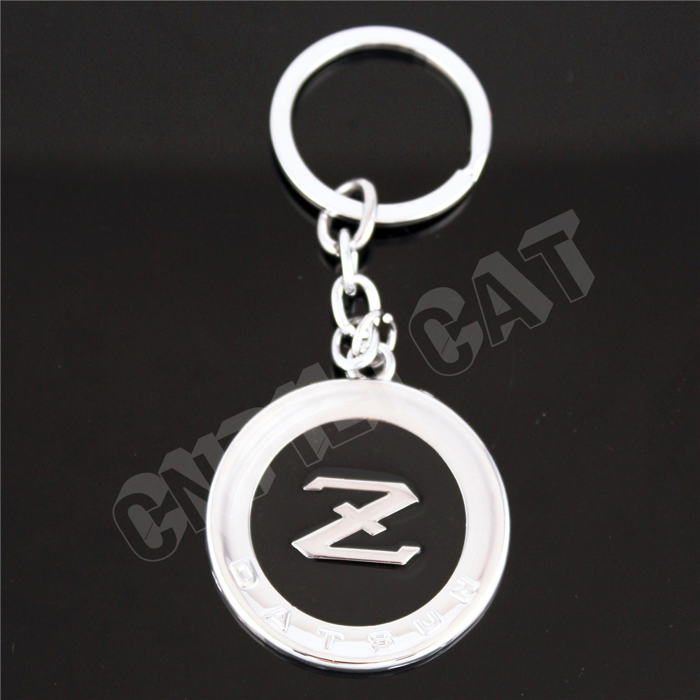 3D Silver&Black DATSUN Z Logo Car Key Chain Key Ring <font><b>Keychain</b></font> for Fairlady Z Z33 Z34 <font><b>350Z</b></font> 370Z image