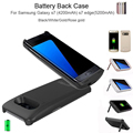 For S7 Edge Battery Charger Cases Mobile Phone Bag Power Bank Cover Case Backup External Battery Case for Samsung Galaxy S7 edge