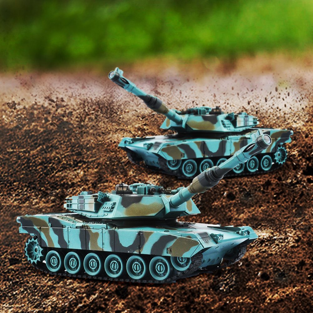 Image 2 - 1/28 RC Tank Remote Control Toys Battle RC Tank M1A2 Automatic Presentation Tanks Via Musical Scal Rc Tank For Boys Xmas Gifts-in RC Tanks from Toys & Hobbies