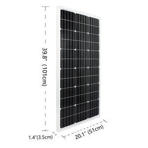 Image 2 - Система солнечной энергии ECOworthy 100 Вт: Моно панель солнечной энергии 100 Вт, ЖК контроллер 20 А, черные и красные Кабели 5 м для зарядки батареи 12 В