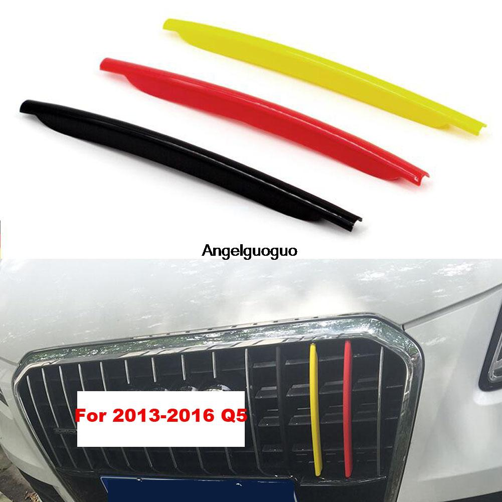 3d car styling car front grille trim sport strips cover motorsport power performance stickers car accessories for audi q3 q5 in car stickers from