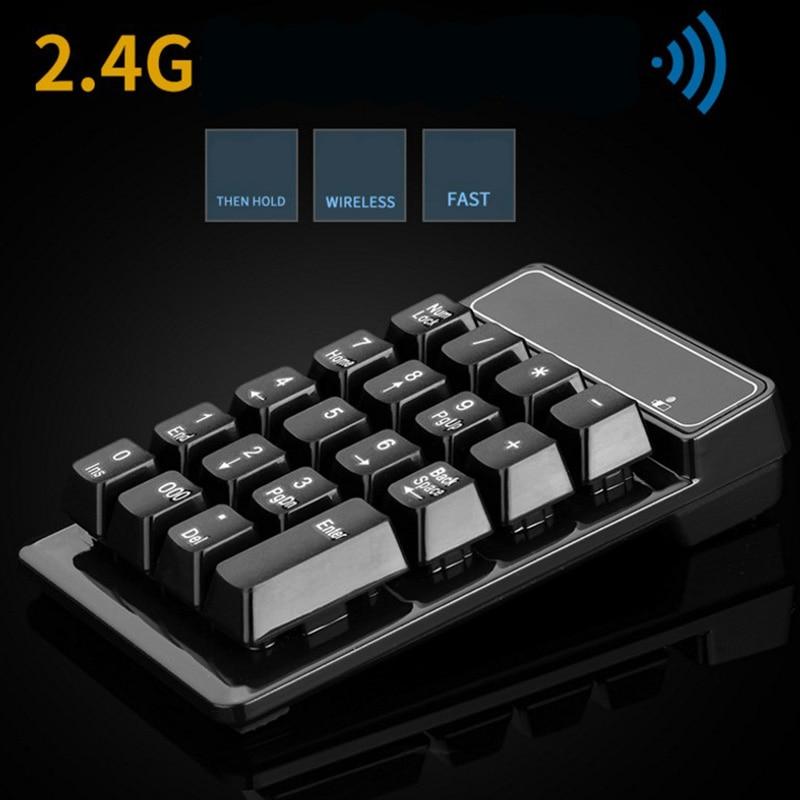 Mechanical Numpad Numeric Keypad 18 Keys Wireless Mini USB Digital Keyboard for Air/Pro Laptop PC Notebook F1 ...