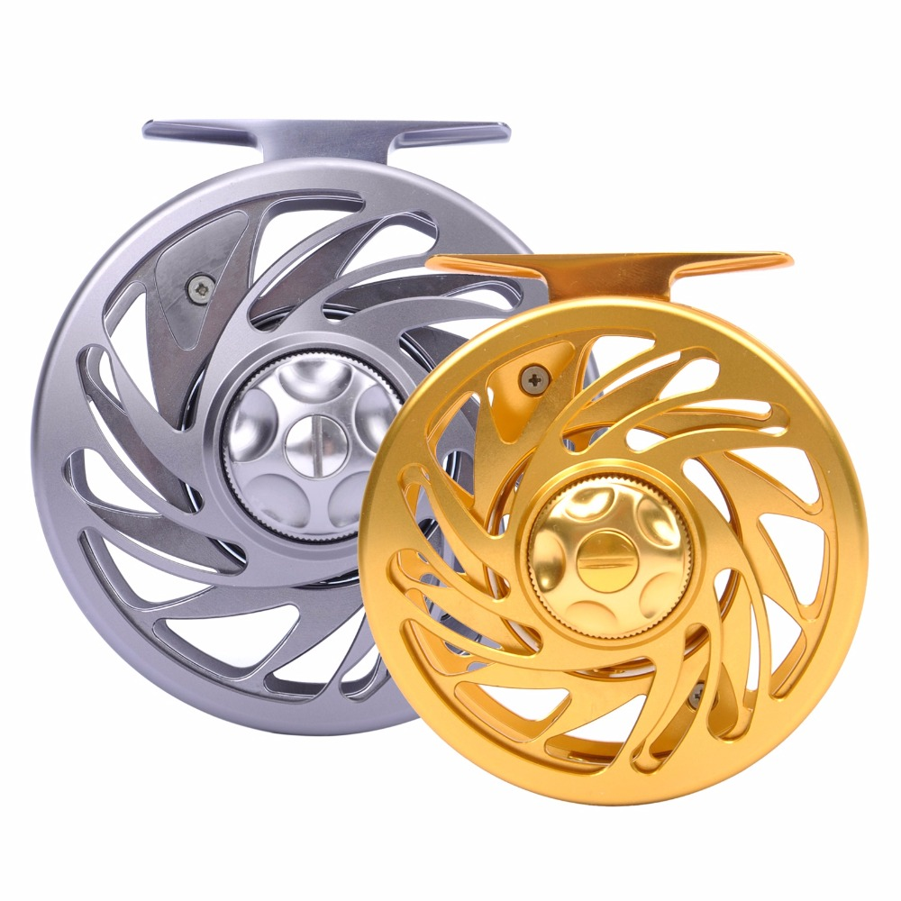 Jekosen Fly Fishing Reel with Large Arbor CNC machined T6061 Aluminum Alloy Body and Spool in
