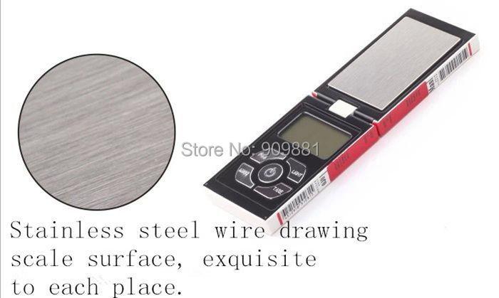 100 g 0,01 g mini elektroninių kišeninių papuošalų svarstyklių - Matavimo prietaisai - Nuotrauka 3