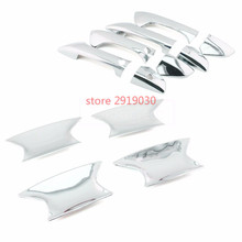 Car styling ABS Chrome Door Handle Catch Cover Trims + Bowl fit for HONDA Accord 2008-12
