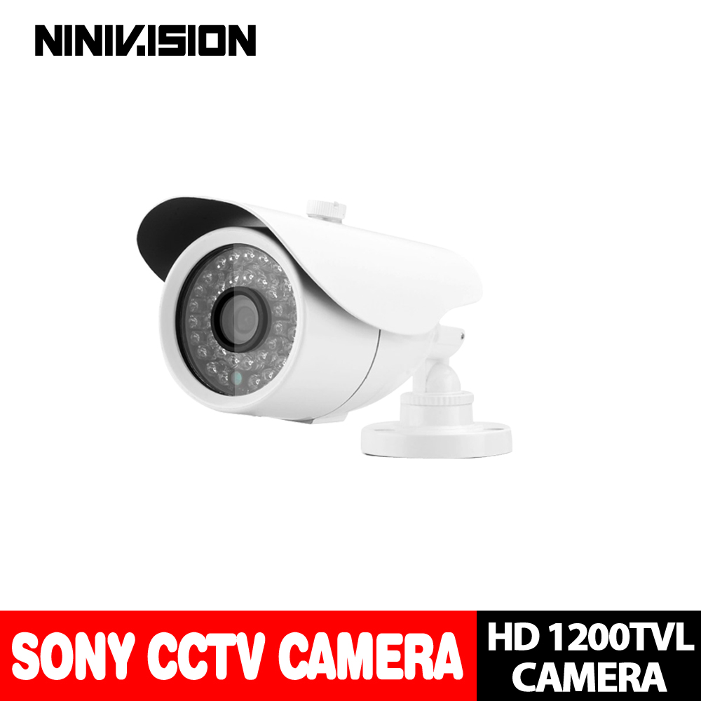 NINIVISION ,Free shipping 2016 NEW 1/3 SONY CCD HD 1200TVL Waterproof Outdoor security camera IR 100 meter CCTV Camera System newest arrival sony ccd 1000tvl hd cctv camera waterproof outdoor security camera 1 3 ir 100 meter free shipping