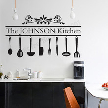 Design Name Personalized Kitchen Wall Sticker Vinyl Art Removeable Poster Mural Decoration Decals Decor LY1141