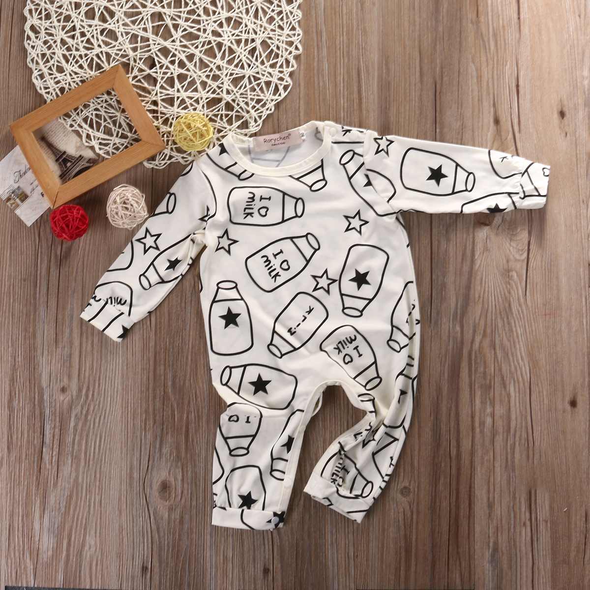 Top-Baby-Kids-Boy-Girl-Infant-Long-Sleeve-Romper-Milk-bottle-Jumpsuit-Cotton-Clothes-Outfit-Set-2