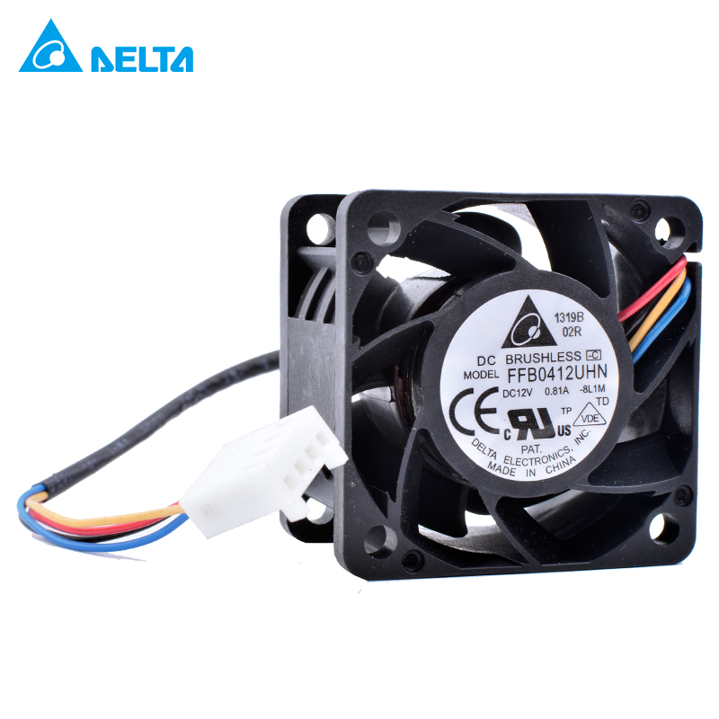 DELTA FFB0412UHN 4cm 4028 40x40x28mm Double ball bearing 4-wire 4pin PWM air volume server power cooling fan
