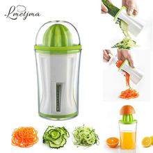 LMETJMA 2 in 1 Vegetable Spiral Slicer & Juicer Manual Vegetable Spiralizer Cutter Zucchini Noodle Spaghetti Maker KC0088