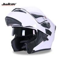 NEW VERSION DOT ECE JIEKAI 902 Motorcycle Flip up Winter helmets Safety Racing Motocross Capacete Quad Dirt Bike helmet