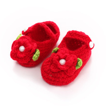 Cute soft Baby boys girls shoes new children's shoes handmade bootie color flowers infant shoes 11cm
