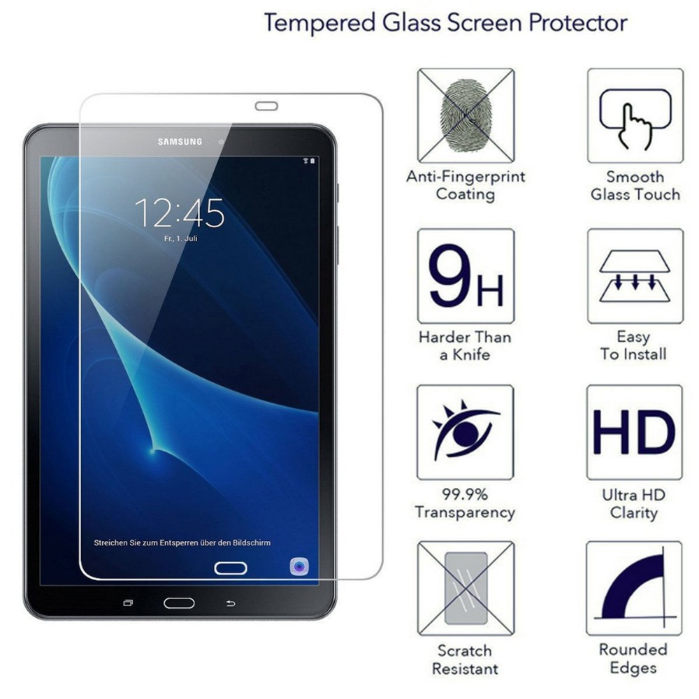 5pack Tempered Glass Screen Protector for Samsung Galaxy Tab A6 10.1 2016 T580 SM-T585 T ...