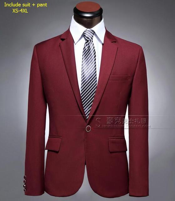 (Костюм + Брюки) костюм Мужской мужской тонкий Бизнес Профессиональный Пиджак Жених Свадебное Платье Вечернее Платье мужской пиджак! S-3XL