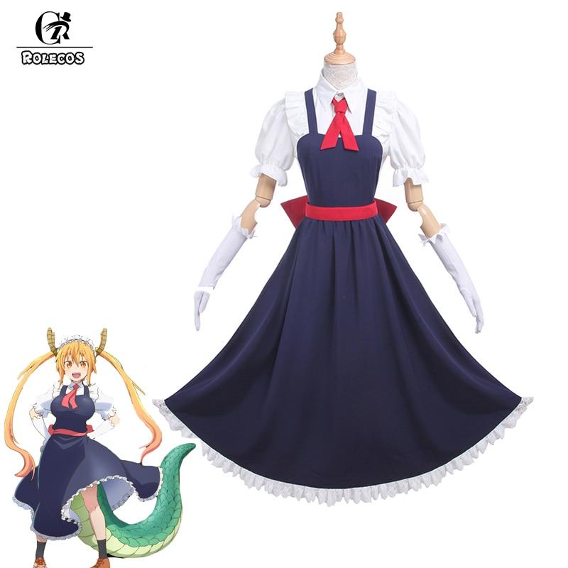 ROLECOS Nuevo Anime Kobayashi san Chi no Maid Disfraces de Cosplay de - Disfraces