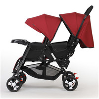 twin stroller Portable Folding Twins baby carriages baby carriages second artifacts