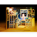 Novelty Star Dream Wooden Doll House with Furniture,Creative Handmade DIY Dollhouse Miniature Toys for Kid's Christmas Gift