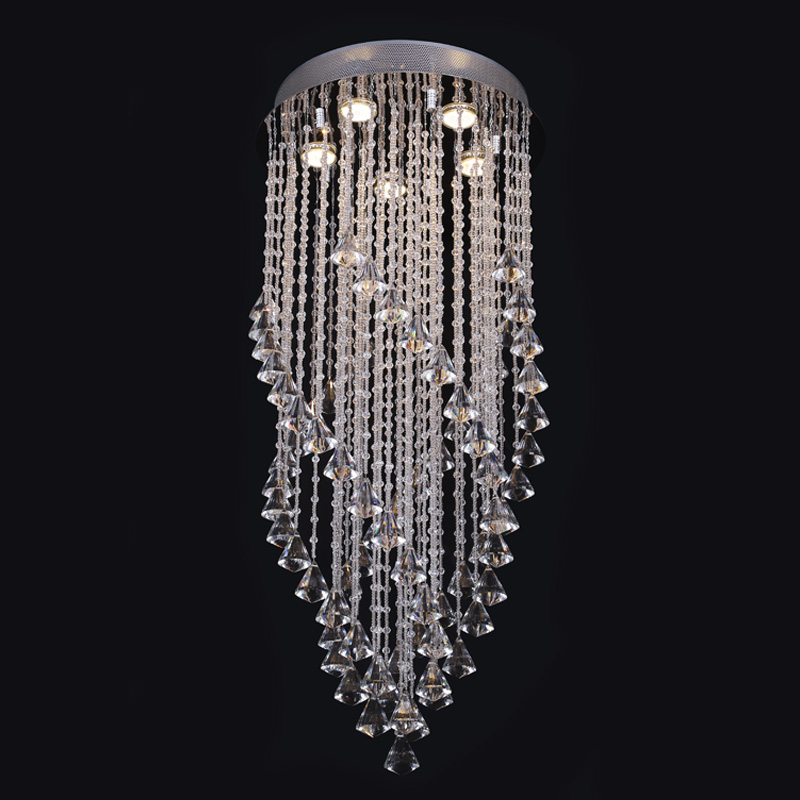 New Crystal Lights Modern Ceiling Light With Glass Lampshade Gold Ceiling Lamp for Living Room Bedroom lamparas de techo abajur