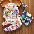 Children Baby Girls & Boys Clothing Set Fashion  Printing butterfly long sleeves  Sport Suit T-shirt + Pants kids clothes set