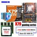 Placa madre de marca famosa HUANAN ZHI deluxe X79 con ranura m2 CPU Intel Xeon E5 1650 V2 con refrigerador RAM 32G (4*8G) 1600 REG ECC