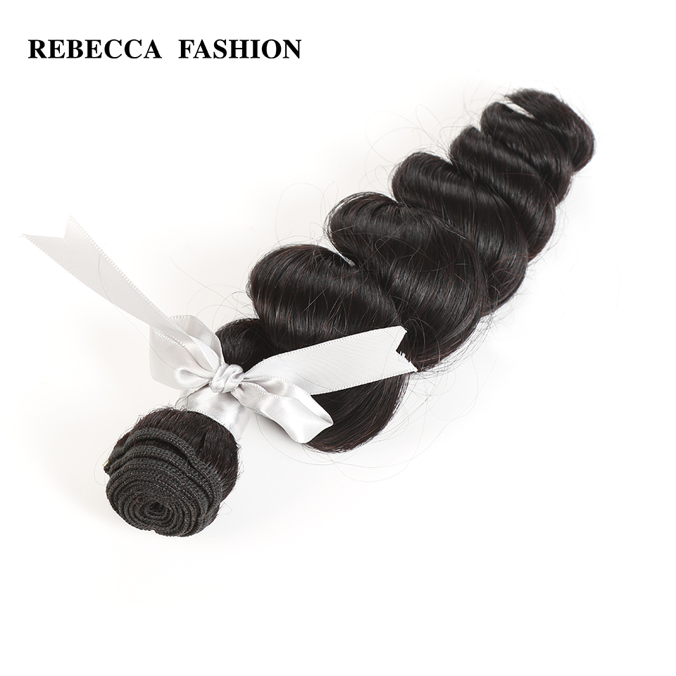 Rebecca Non Remy Peruvian Human Hair 1 Bundle 10 to 26 Inch Loose Wave Peruvian Hair Weave Bundles 100g Free Shipping