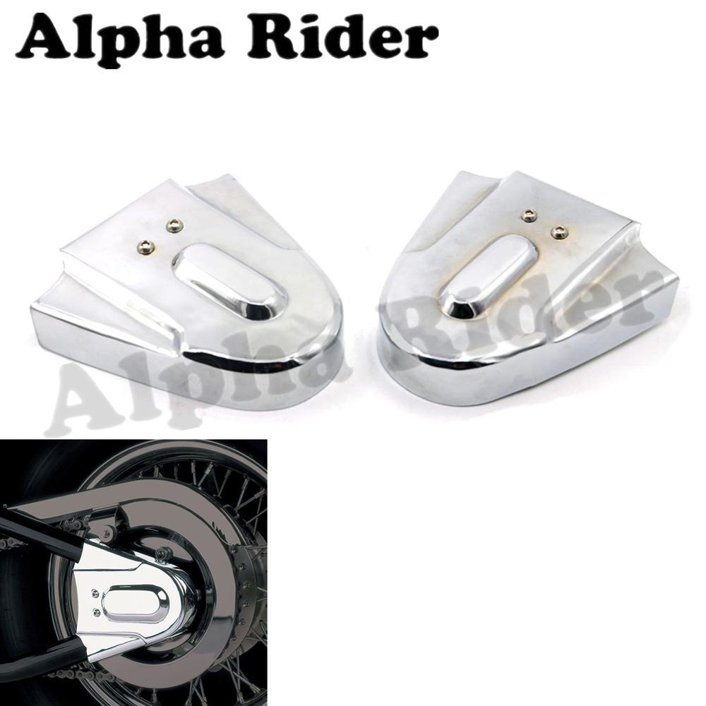 for Honda Steed Shadow VT600 VLX400 VLX600 Chrome Motorcycle Rear Axle Cover Protection Aluminum