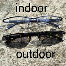 Gafas de lectura de lentes multifocales progresistas de marca para hombres  presbicia hiperopía bifocales gafas de 4024fd6a86