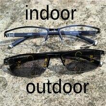 810c9e0350 Gafas de lectura de lentes multifocales progresistas de marca para hombres  presbicia hiperopía bifocales gafas de sol fotocrómic.