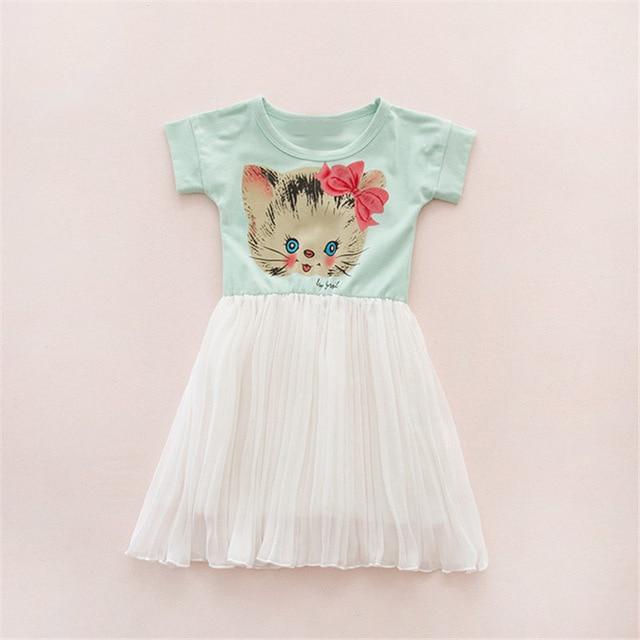 Aliexpress.com : Buy toddler kids Formal Dresses Cartoon cat Print ...