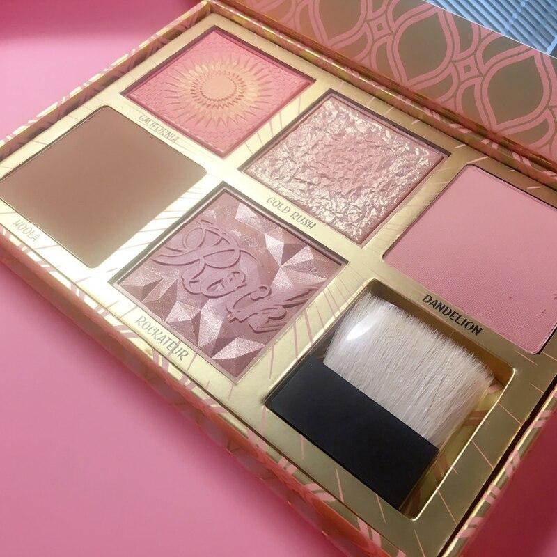 2018 marke Neue Make-Up rouge bronzer lidschatten-palette fünf farbe highlighter palette Top Qualität Erröten Palette für gesicht schönheit