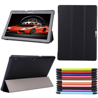Slim Magnetic Case Luxury Folio Stand PU Leather Case Cover For Lenovo Tab 2 Tab2 A10
