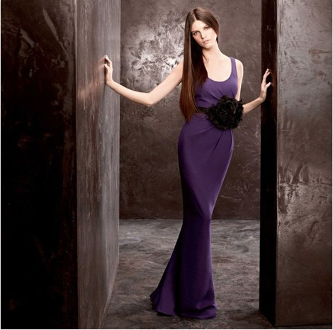 free shipping party 2018 new arrival fashion vestido de festa elegant formal floor length purple long   bridesmaid     Dresses