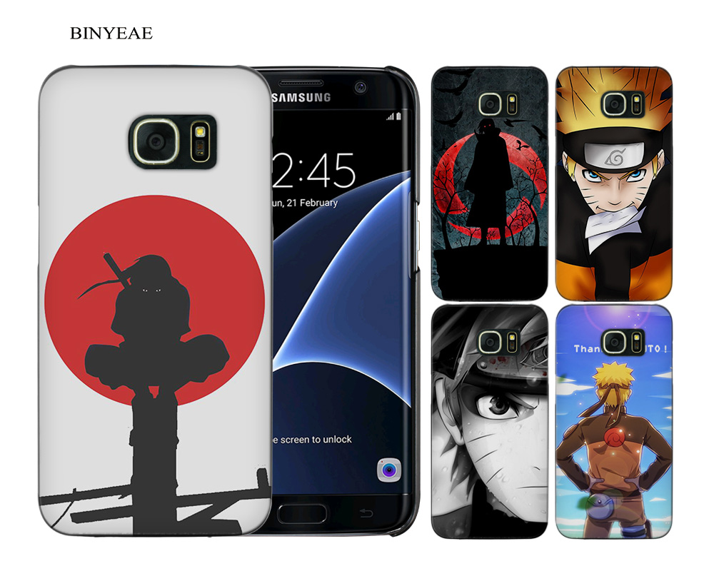 BINYEAE Hokage Naruto Kakashi Black Hard Case Cover Shell Coque for Samsung Galaxy S9 S8 Plus S7 S6 Edge