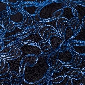 Image 5 - Nice forever vintage elegante floral malha wear para o trabalho vestidos plissados bodycon escritório negócios bainha vestido feminino b431